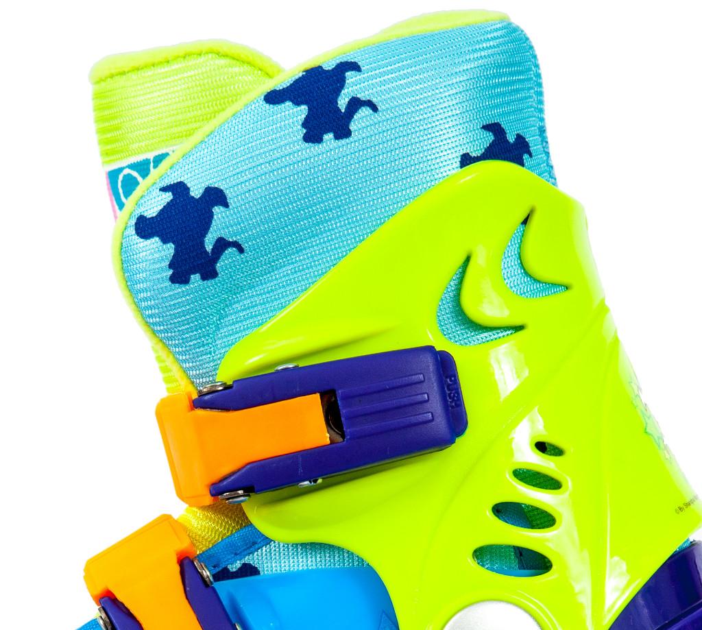 Ролики детские 26 размер, для обучения (трехколесные, раздвижной ботинок) MagicWheels зеленые, - фото 4