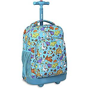 Школьный рюкзак на колесах JWORLD SUNNY Зоопарк