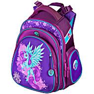 Школьный ранец Hummingbird TK34 Единорог с мешком для обуви + пенал - рюкзак для первоклассника фиолетовый