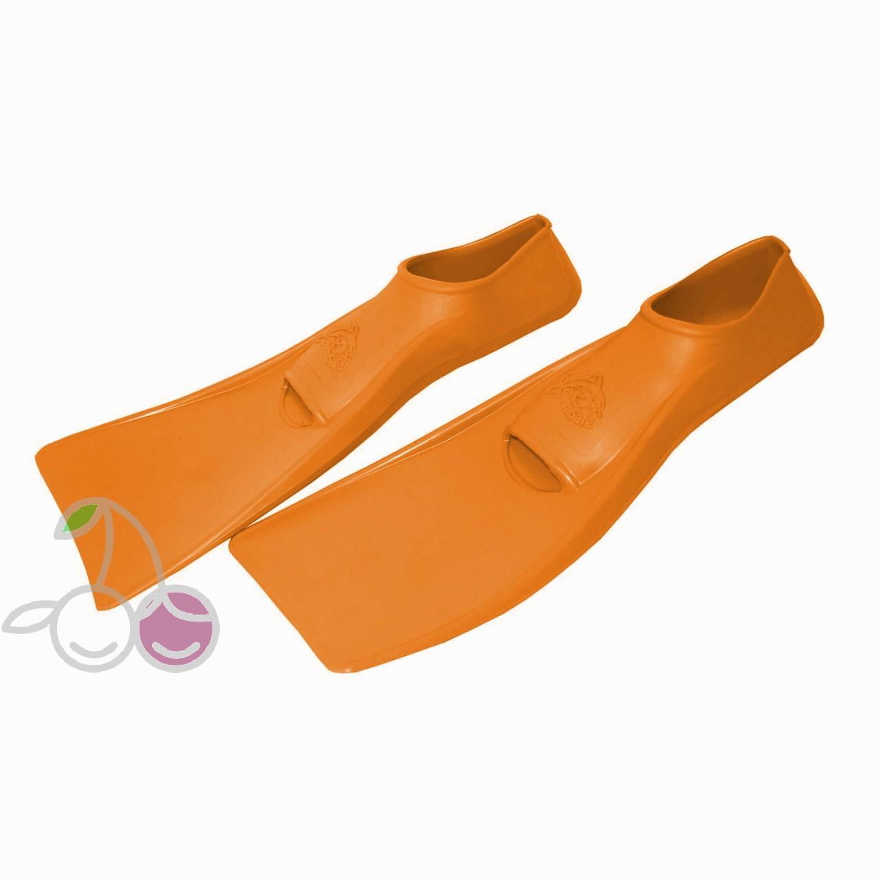 Ласты для бассейна резиновые детские размеры 25-26 оранжевые ПРОПЕРКЭРРИ (ProperCarry), - фото 2